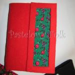 ALBUM NA ZDJĘCIA 01_filc czerwony, tybet zielony, góralski motyw folk, kwiatki_03