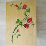 DOM-pudełko 02 - drewniane ręcznie malowane róże folkowe góralskie zamykane na zdjęcia_01