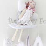 DZIECKO-aniołek 01 - pastelowy sukienka biała szyty shabby