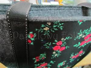 ONA-torebka 01-duża filcowa góralska folk grafitowa szara czarny czerwone różyczki -08