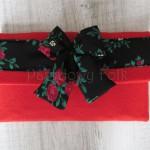 ONA-torebka 07- mała kopertówka filcowa retro góralska folk grafitowa szara czarny biały ecru beż różowa czerwona kwiat ptaszek ptak kokardka-05