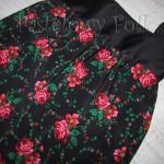 ONA-torebka 10-duża góralska folk folkowa czarna w różowe różyczki tybet marszczona -02