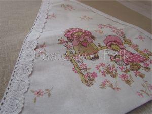 dom-poszewka na poduszkę 02 -40x40 cm lniana na zamek pastelowa koronka dziewczynki ogródek kwiatki beż brąz różowe-00 miniatura