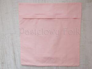 dom-poszewka na poduszkę 03 -40x40 cm bawełniana na zamek pastelowa shabby retro dziewczynki  kwiatki ecru róż różowe wiązane kokardki-04