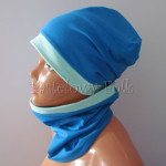 dziecko-czapka 160- dzianinowa mietowa turkusowa niebieska chlopiec wiosenna jesienna komin-03