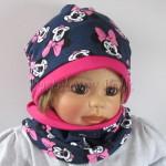 dziecko-czapka-194-granatowa-z-myszka-minnie-ciemnorozowafuksja-dwuwarstwowa-komplet-chustka-02