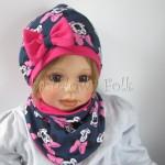 dziecko-czapka-195-granatowa-z-myszka-minnie-z-ciemnorozowa-kokardafuksja-dwuwarstwowa-komplet-chustka-01