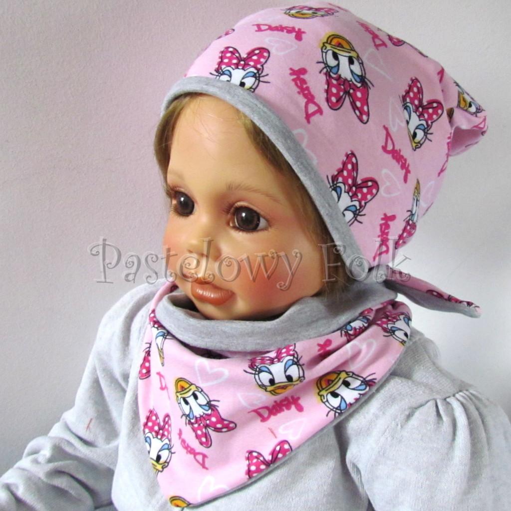 dziecko-czapka-199-rozowa-z-daisy-szara-dwustronna-komplet-chustka-03