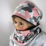 dziecko-czapka-217-biala-w-szare-rozowe-motyle-grafitowa-dwustronna-jesienna-komplet-komin-chustka-02