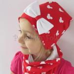 dziecko-czapka-224-czerwona-w-biale-myszki-minnie-z-biala-kokarda-dresowka-komin-chustka-05