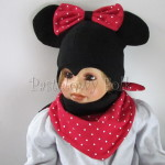 dziecko-czapka-231-czarna-z-uszami-myszka-minnieduza-kokarda-czerwona-karmin-w-biale-kropki-komplet-chustka-dwuwarstwowa-01
