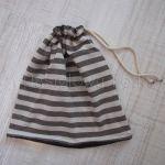 dziecko-czapka komin dla niej niego chłopca dziewczynki 11-smerfetka paski ecru brązowa czekoladowa dzianinowa wiosenna jesienna zimowa komplet-01