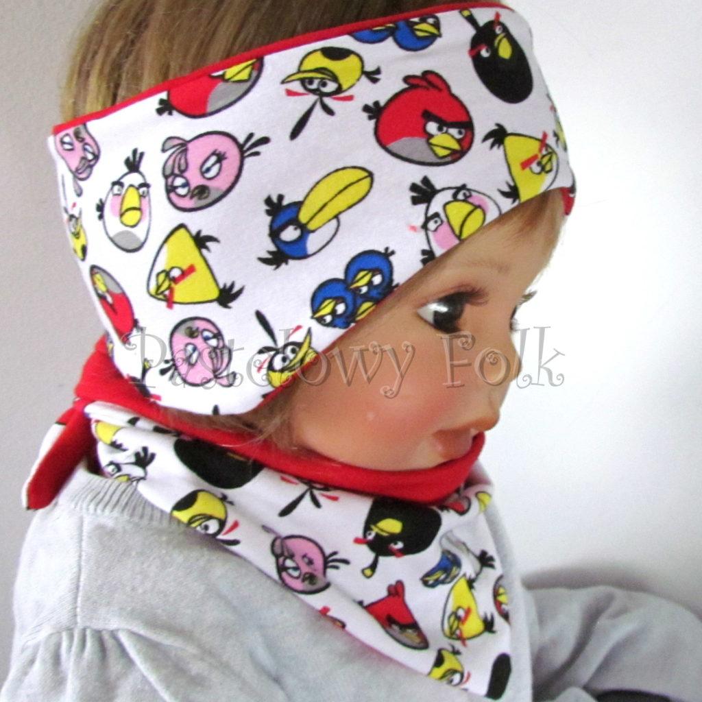 dziecko-opaska-169-biala-angry-birds-czerwona-kolorowe-dwustronna-chlopieca-komplet-chustka-02