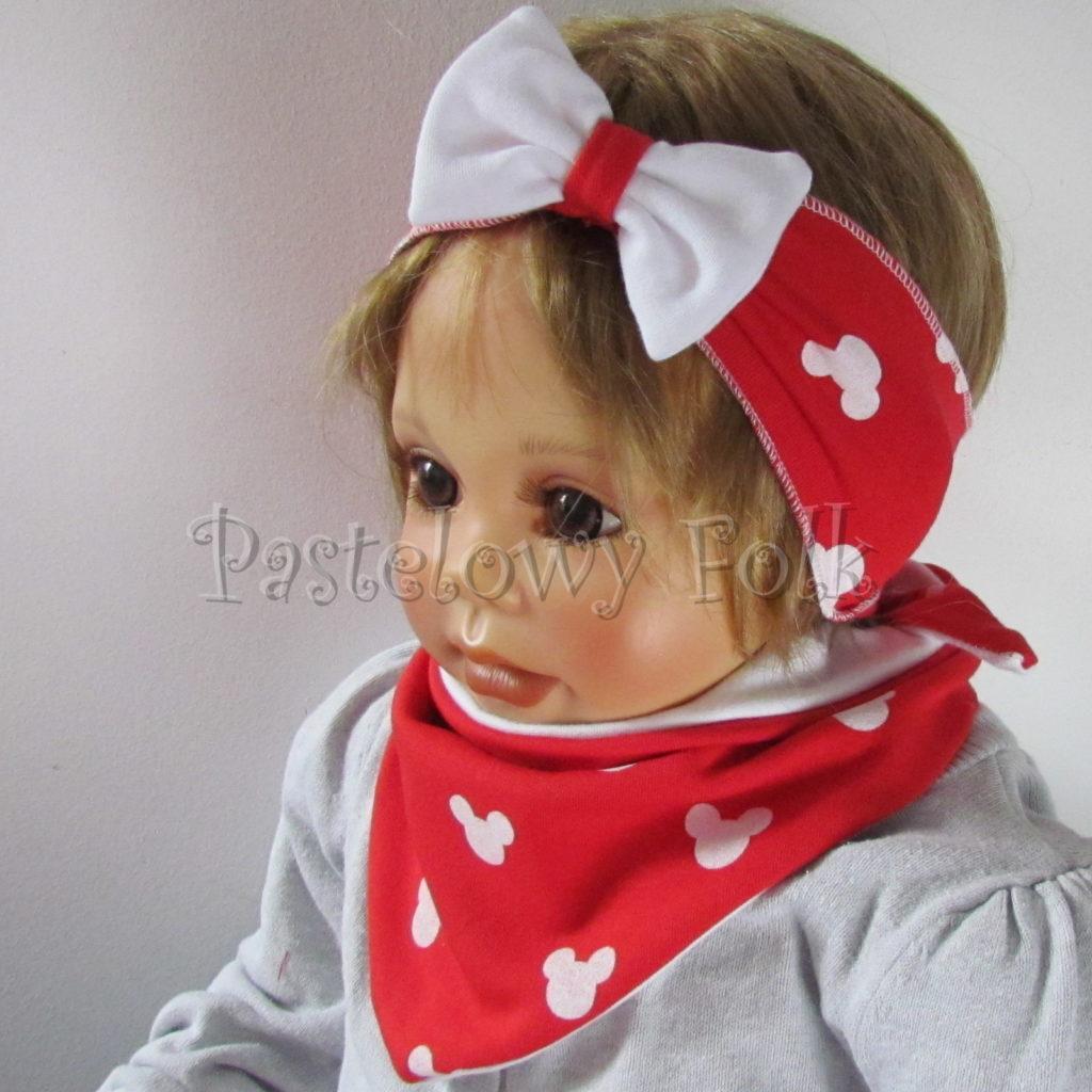 dziecko-opaska-178-czerwona-biala-myszki-minnie-miki-z-kokarda-komplet-chustka-06