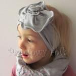 dziecko-opaska 33- szara duzy kwiat retro biala nitka-02