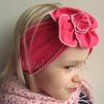 dziecko-opaska 36- rozowa malinowa wiosenna duzy kwiat retro-03