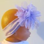 dziecko-opaska 44 - fioletowa z dużym siateczkowym kwiatem -09