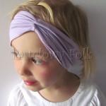 dziecko-opaska 56- fioletowa liliowa szeroka z funkcją chusteczki -02