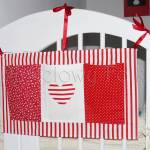 dziecko-organizer 01- pomocnik szyty czerwono-biały dziecięcy pokój kuchnia groszki kropki paseczki łączka łóżeczko 50x30cm-07