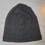 kobieta-czapka 01- beanie, dzianinowa, szara grafitowa 01