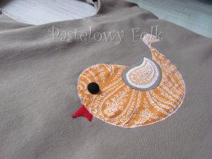 ONA-torebka 08- duza torba bezowa bez ptaszek folkowy folk aplikacja pomarańczowy biały ecru beż ptak rękodzieło jedyna unikatowa-03 logo