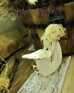 SWIETA choinka-aniołek 02_3d drewniany biały perłowy srebrny_01
