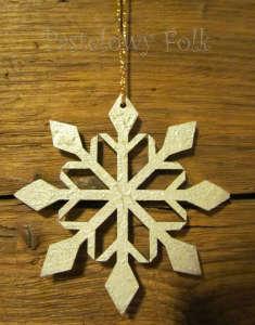 SWIETA choinka-zawieszka 04_ drewniana śnieżka bombka gwiazda brokat zimowa świąteczna srebrny szary_04