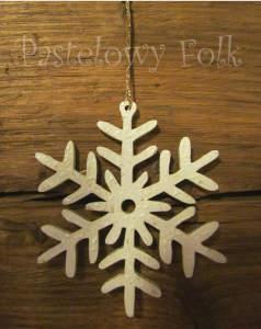 SWIETA choinka-zawieszka 08_ drewniana śnieżka bombka gwiazda brokat zimowa świąteczna biała perłowa _04 2