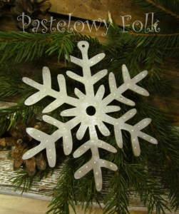 SWIETA choinka-zawieszka 09_ drewniana śnieżka duża gwiazda gwiazda brokat zimowa świąteczna szara srebrna perłowa_02 2