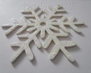 SWIETA choinka-zawieszka 10_ drewniana śnieżka duża gwiazda gwiazda brokat zimowa świąteczna biała perłowa_04