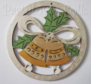 SWIETA choinka-zawieszka 17_ drewniane duze dzwoneczki 03 w kolku brokat zimowa świąteczna biała srebrna złota_01