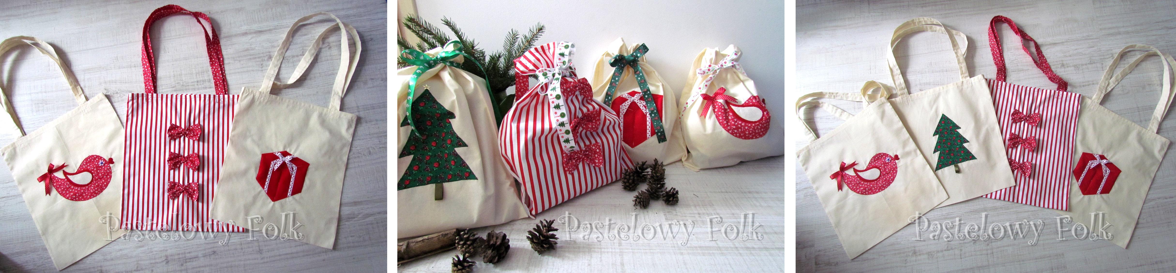 TORBA EKO- 04 - torebki na prezenty świąteczne ekologiczne bawełniana eco na zakupy 2
