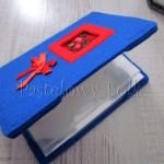 Album na zdjęcia niebieski z czerwonym tybetem (S)