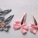 DZIECKO-spinka 04_ różowa kokardka pastelowa perełka 04