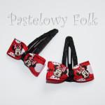 DZIECKO-spinka 11_ myszka minnie czarna, kokardka czerwony mini 02