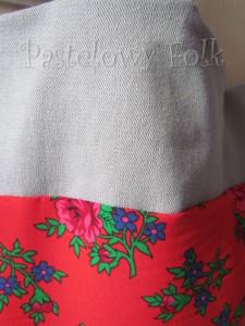 ONA-torebka 09-duża góralska folk folkowa  czerwona w różowe różyczki tybet -02