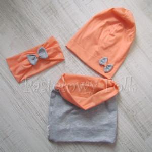dziecko-komin 34-mały pastelowy dzianinowy dwustronny szary łososiowy pomarańczowy-02