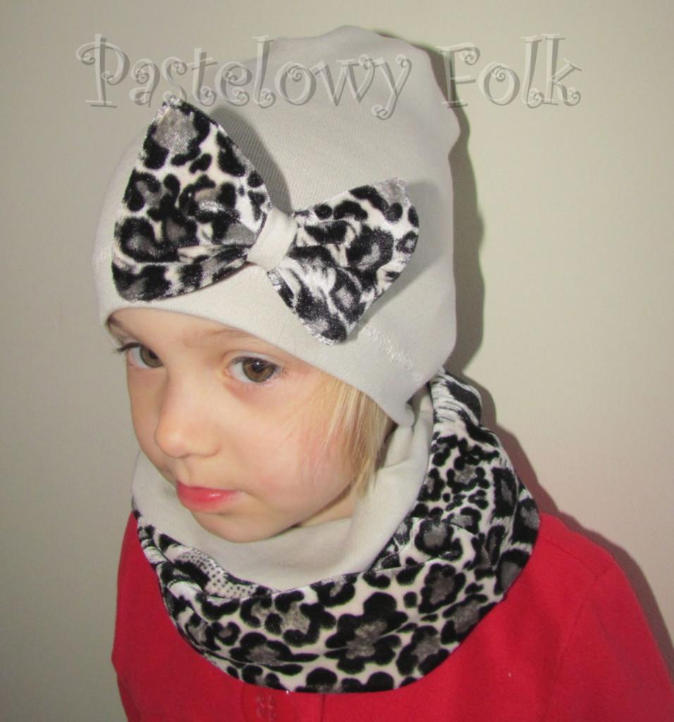 dziecko-komin 36-dzianinowy dziecięcy dwustronny beżowy szary czarny panterka cętki-04