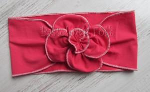 dziecko-opaska 36- rozowa malinowa wiosenna duzy kwiat retro-01