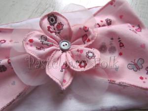 dziecko-opaska 37- rozowa wiosenna kwiat retro motylek kwiatek-02