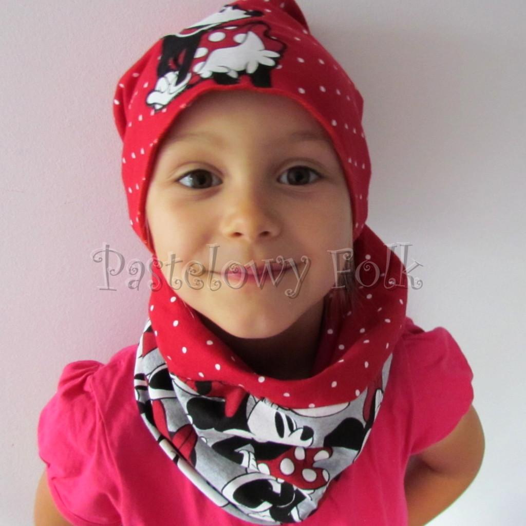 dziecko-czapka-190-karmin-w-biale-kropki-z-duza-minnie-komplet-szary-komin-04