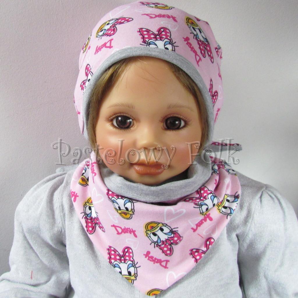 dziecko-czapka-199-rozowa-z-daisy-szara-dwustronna-komplet-chustka-02