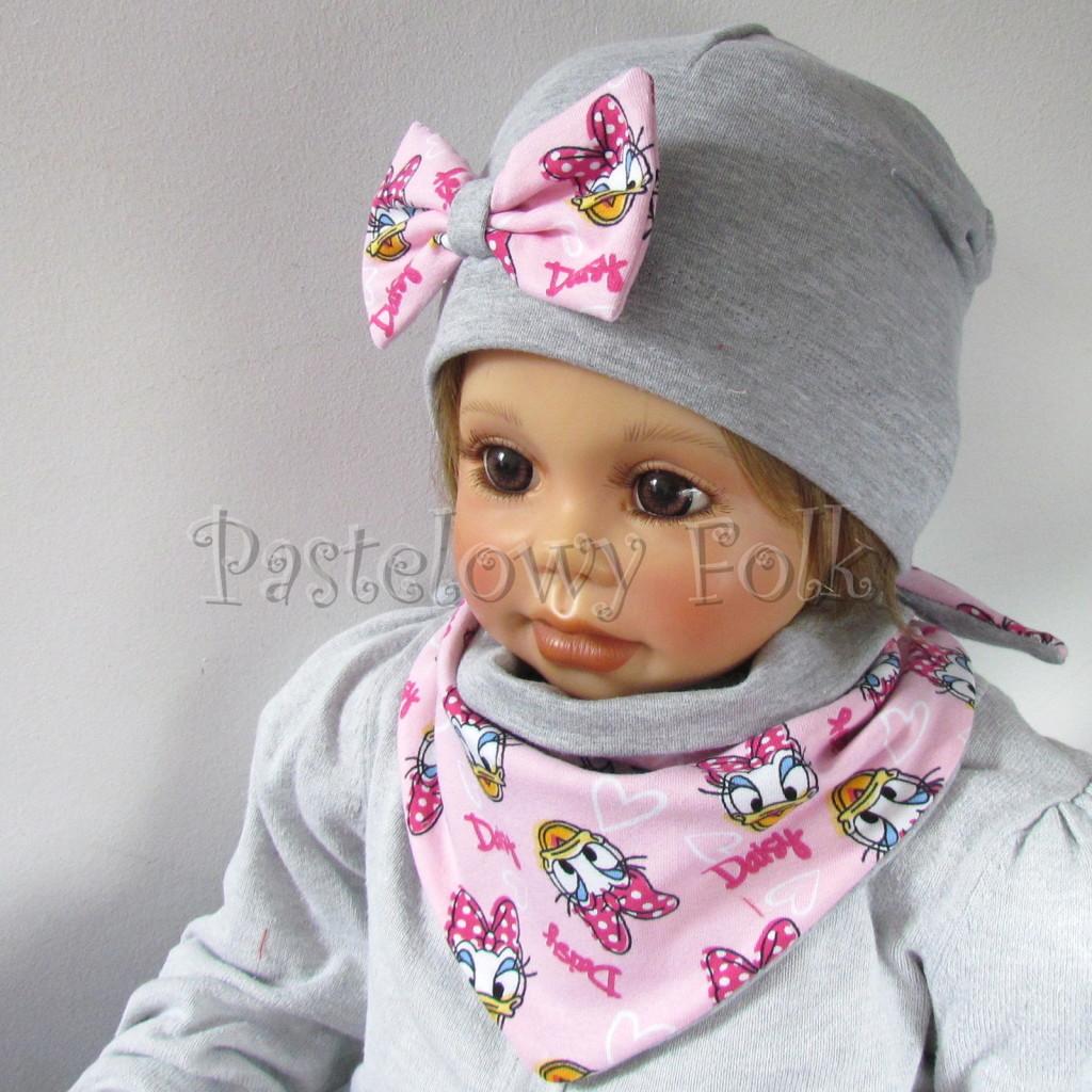 dziecko-czapka-200-szara-z-rozowa-kokarda-z-daisy-komplet-chustka-02