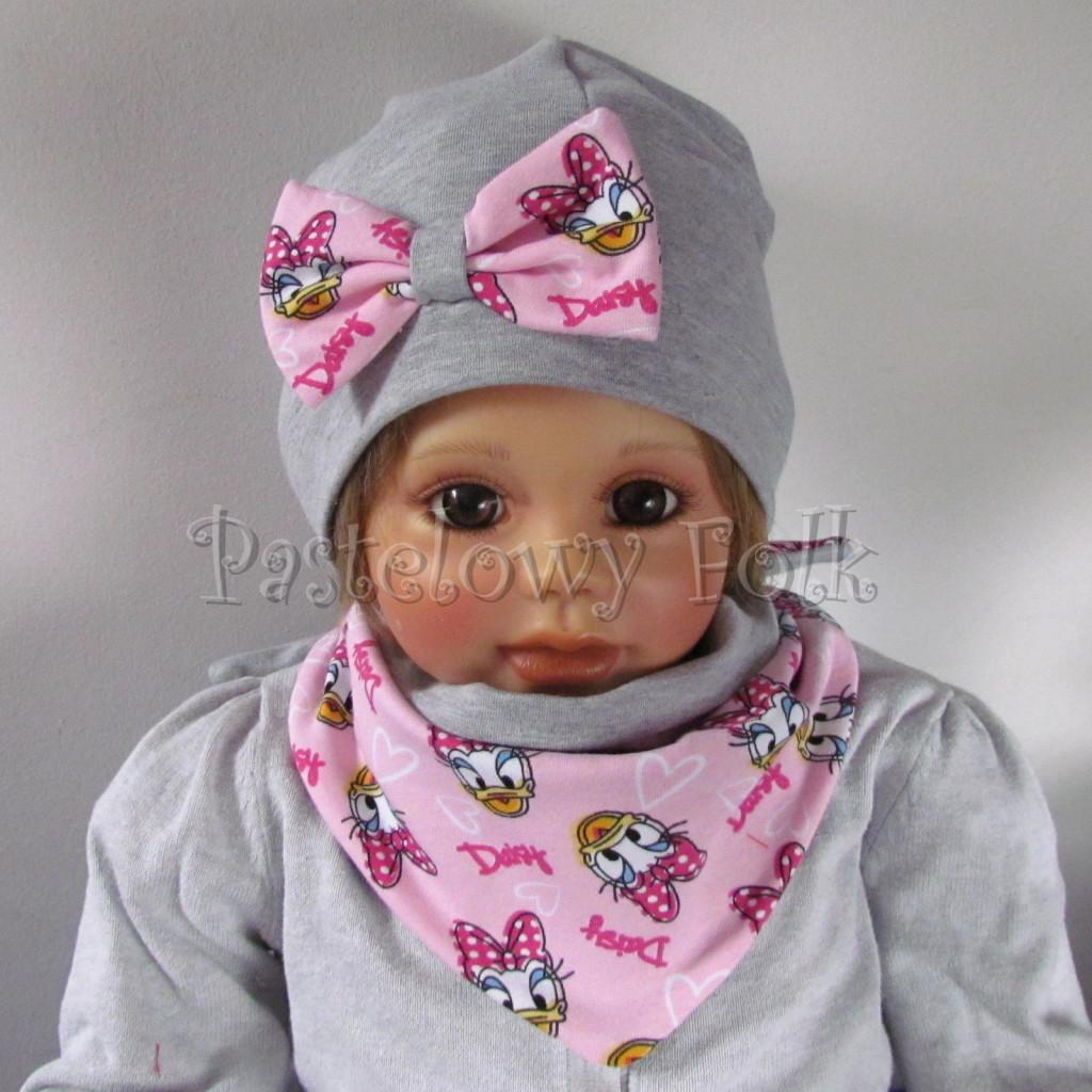 dziecko-czapka-200-szara-z-rozowa-kokarda-z-daisy-komplet-chustka-03