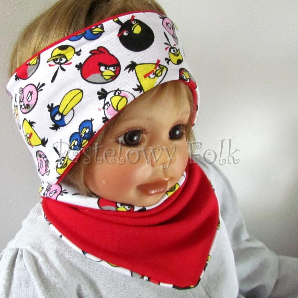 dziecko-opaska-169-biala-angry-birds-czerwona-kolorowe-dwustronna-chlopieca-komplet-chustka-03