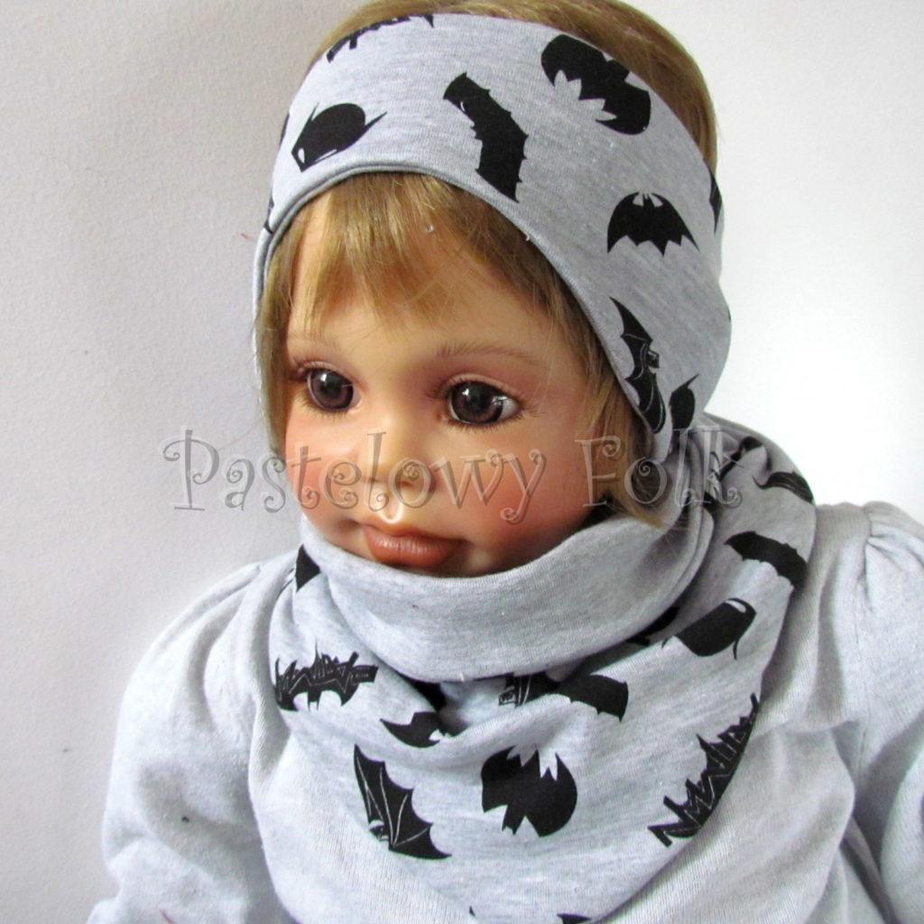 dziecko-opaska-171-szara-czarne-nietoperze-batman-dwustronna-chlopieca-komplet-chustka-02