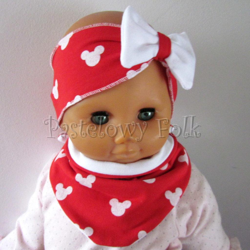 dziecko-opaska-178-czerwona-biala-myszki-minnie-miki-z-kokarda-komplet-chustka-01