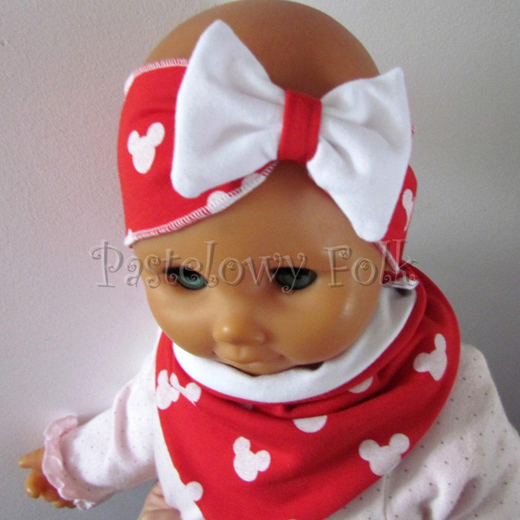 dziecko-opaska-178-czerwona-biala-myszki-minnie-miki-z-kokarda-komplet-chustka-03