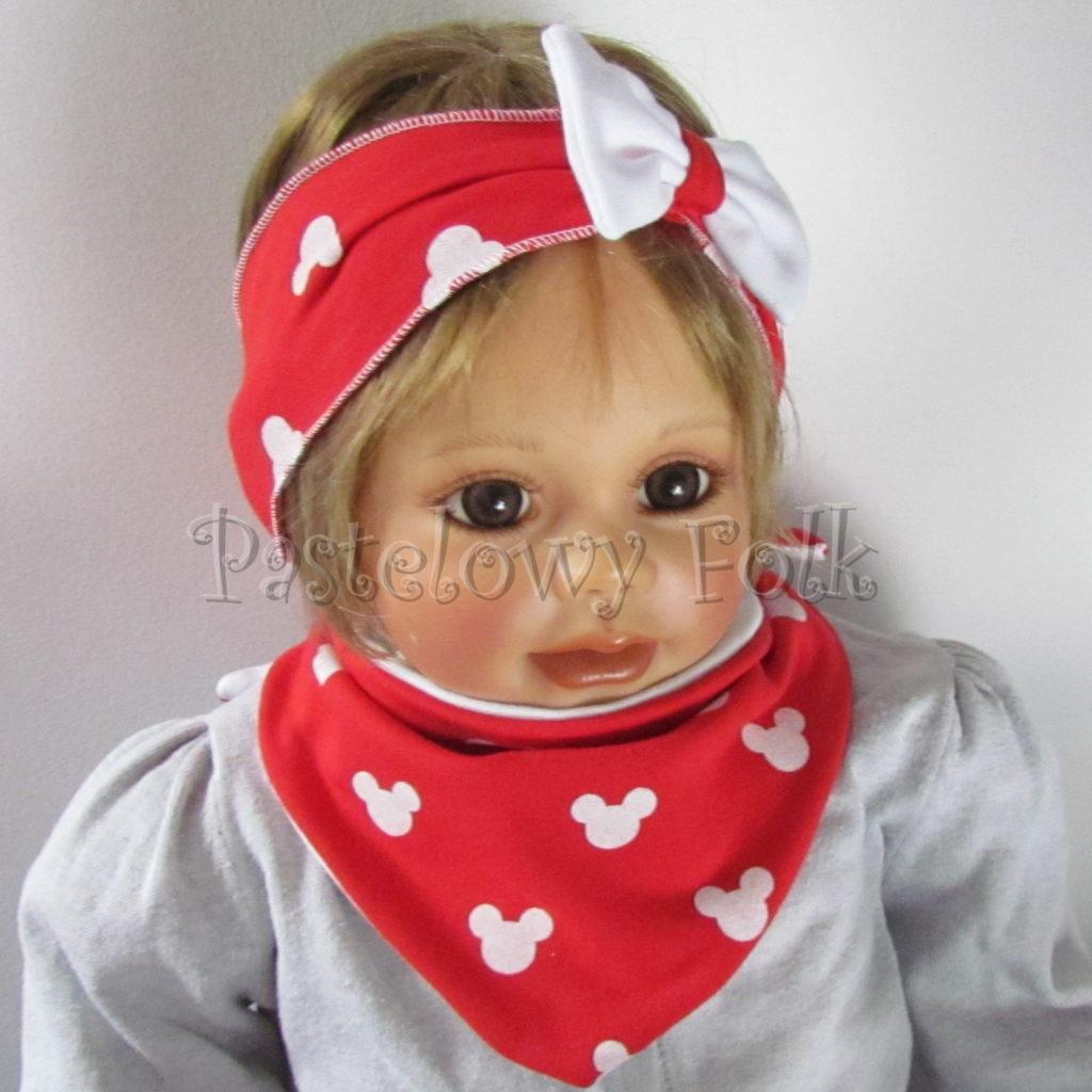dziecko-opaska-178-czerwona-biala-myszki-minnie-miki-z-kokarda-komplet-chustka-05